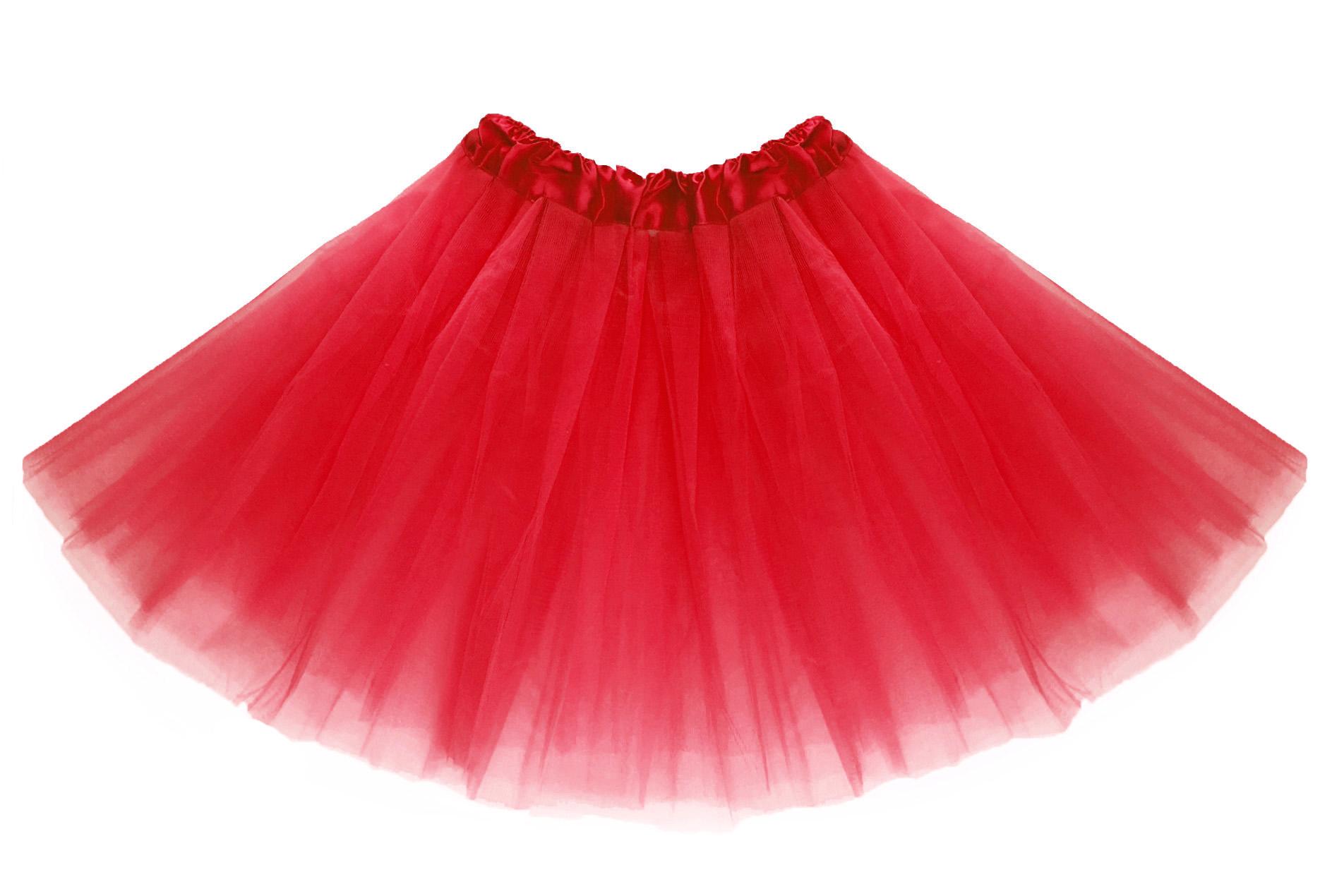 Tylová tutu sukně červená 40 cm