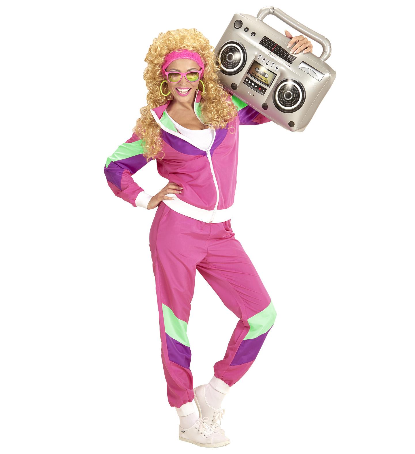 Dámský kostým 80. léta růžový Velikost: S (36-38)