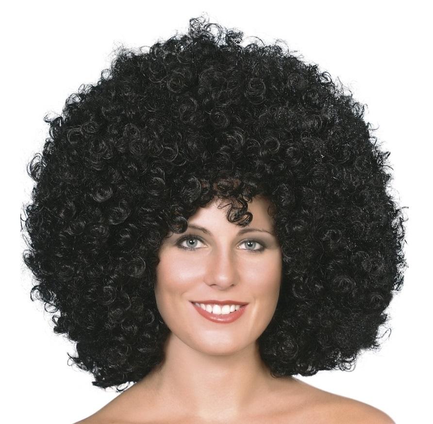 Objemná afro paruka černá