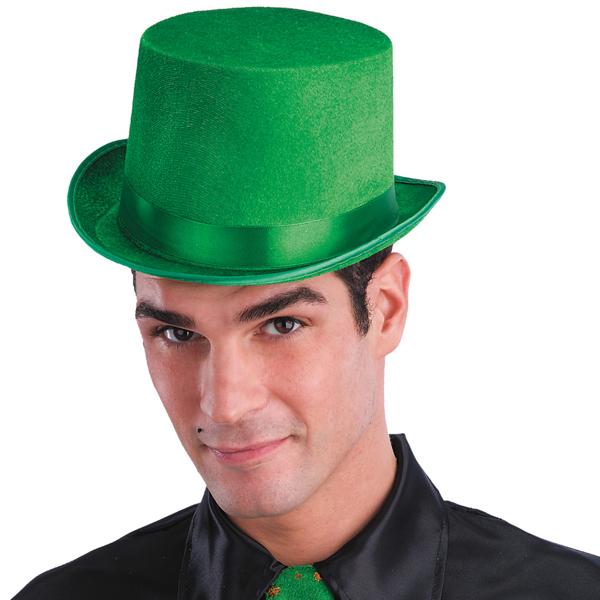 Zelený klobouk cylindr Vodník