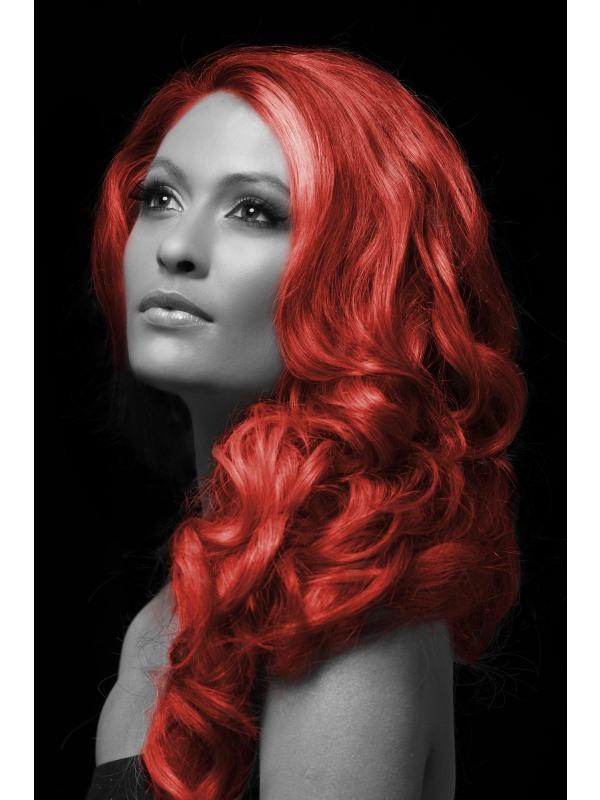 Barevný sprej na vlasy červený