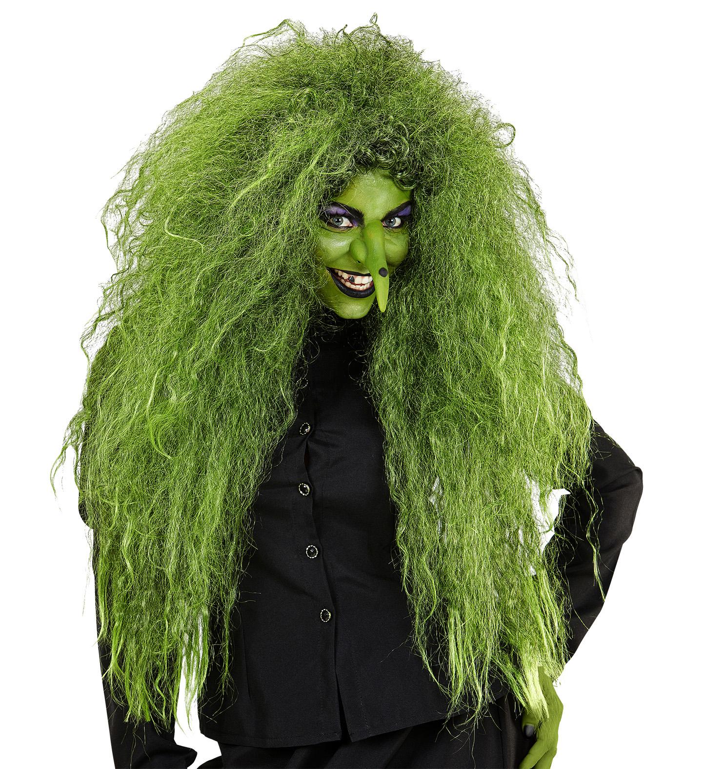 Velká zelená paruka čarodějnice