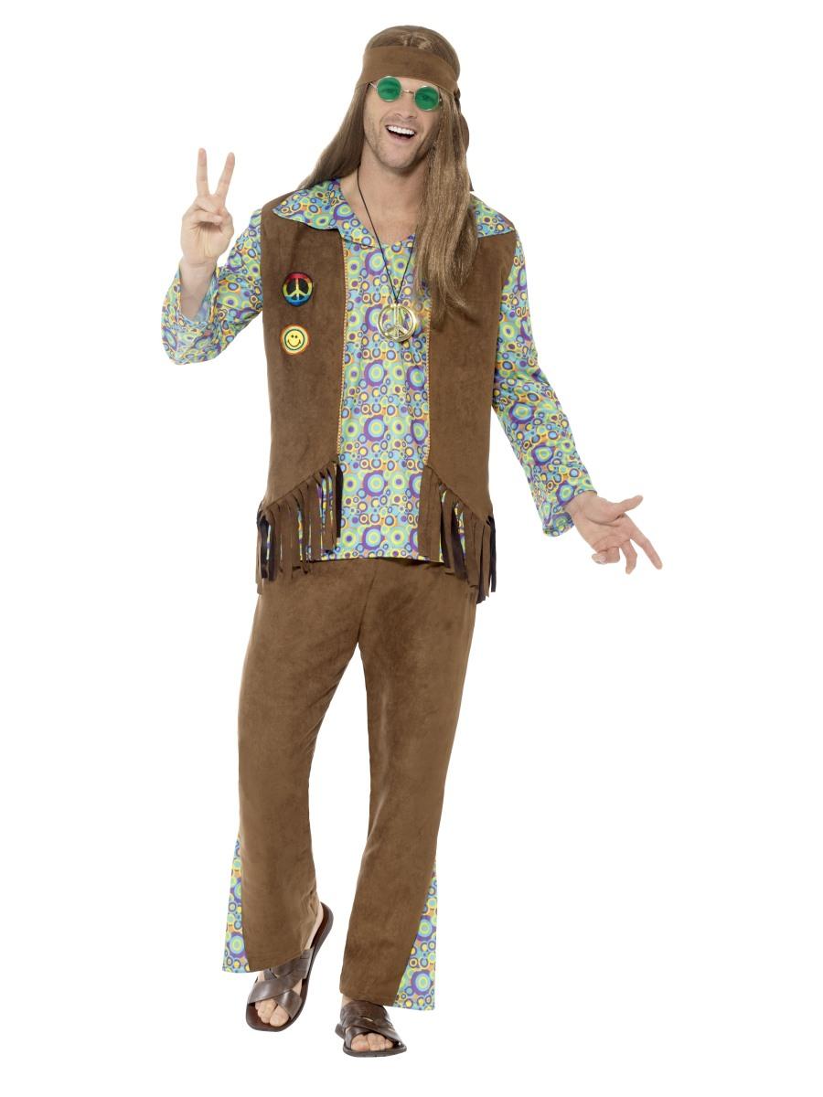 Pánský hippies kostým 60. léta Velikost: L (52-54)