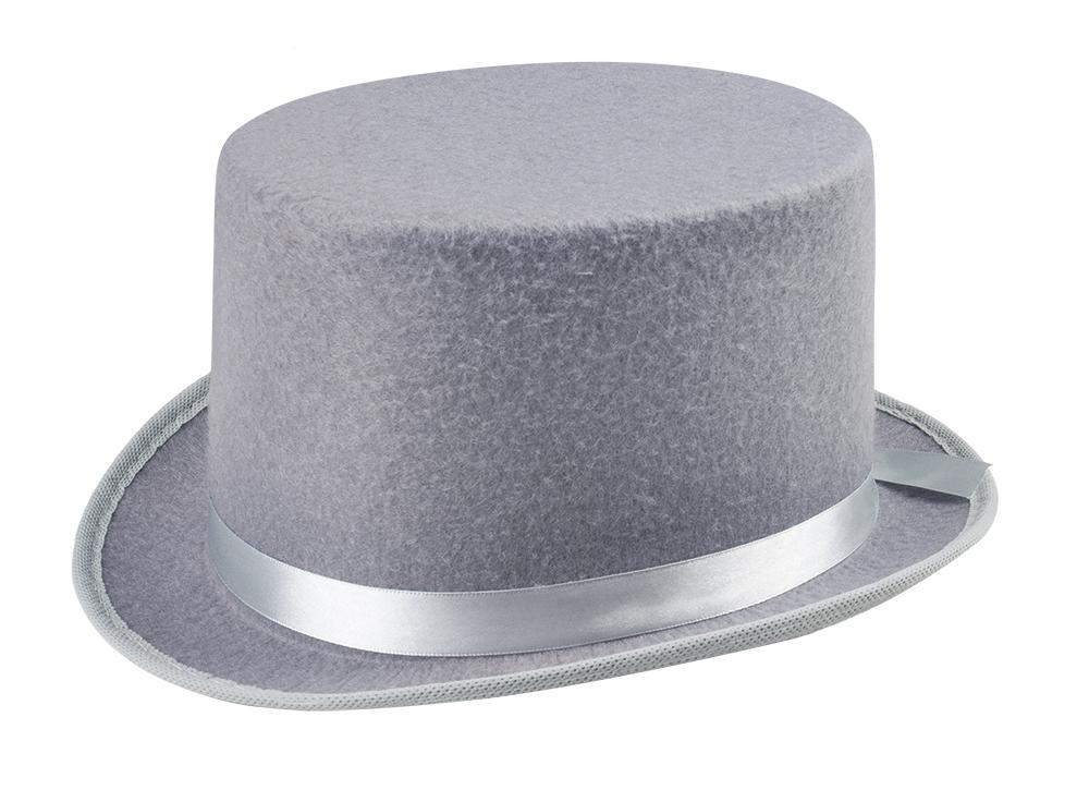 Šedý klobouk cylindr