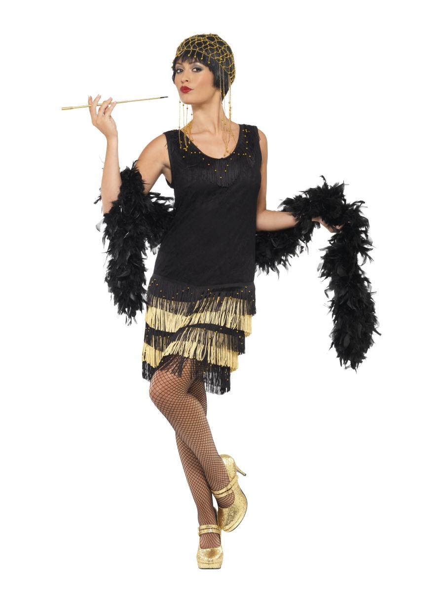 Kostým Charleston černozlatý Velikost: S (36-38)