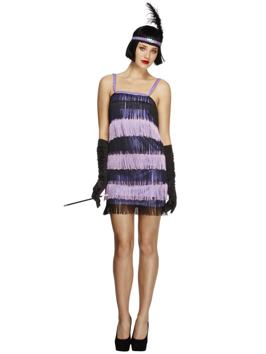 Charleston kostým 20. léta fialové šaty Velikost: S (36-38)