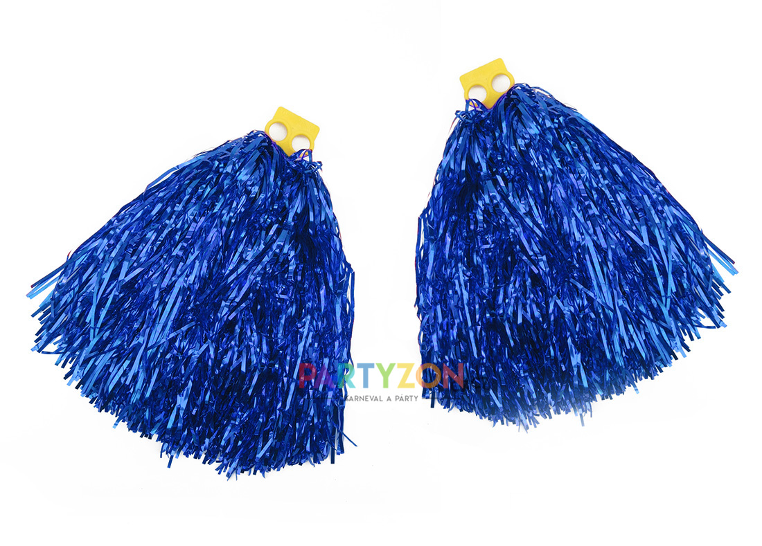 Pompony pro roztleskávačky modré 2ks