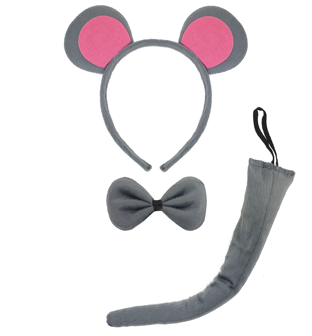 Čelenka myš uši, ocas, motýlek