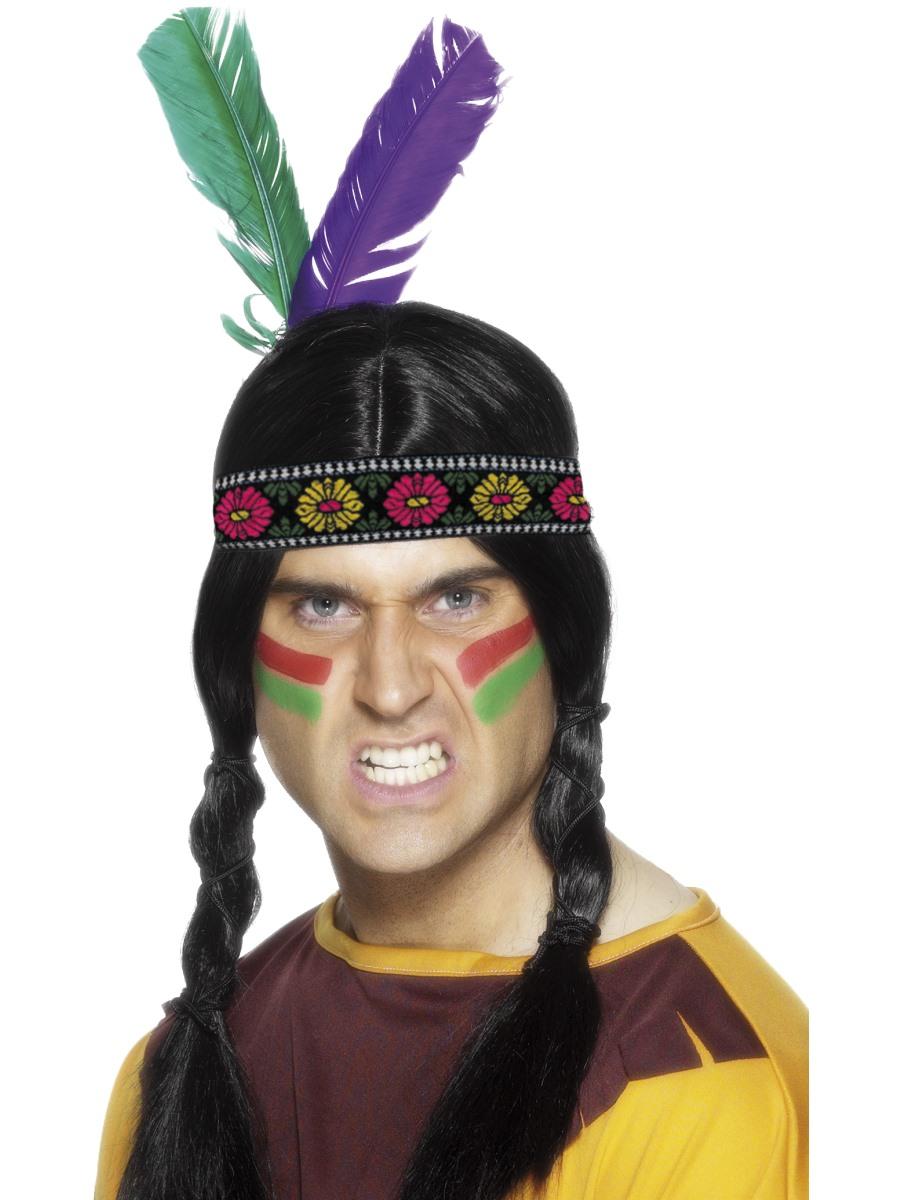 Indiánská čelenka s brky