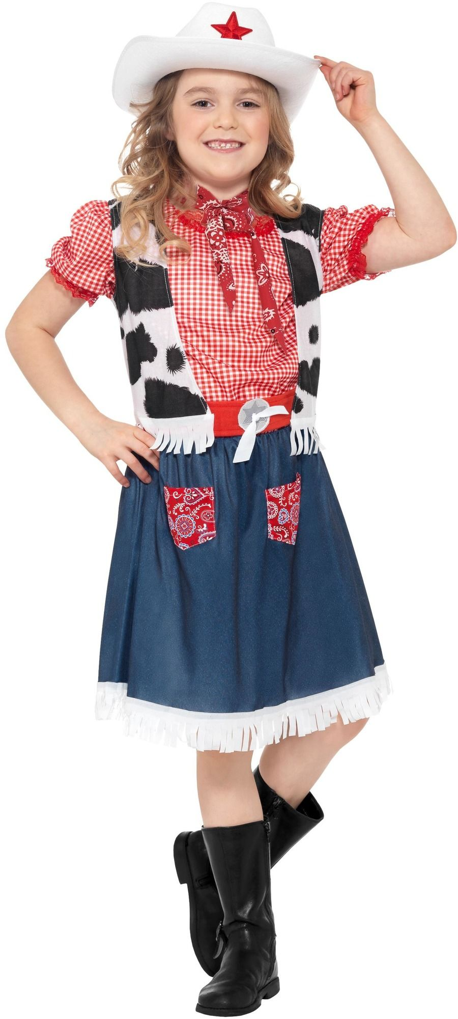 Dětský kostým Kovbojka Velikosti: M (7-9 let)