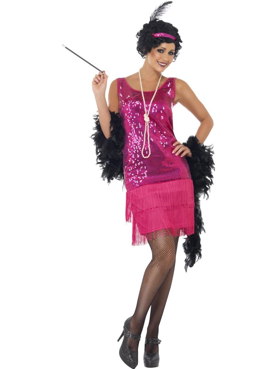 Kostým 30. léta růžové šaty Velikost: S (36-38)