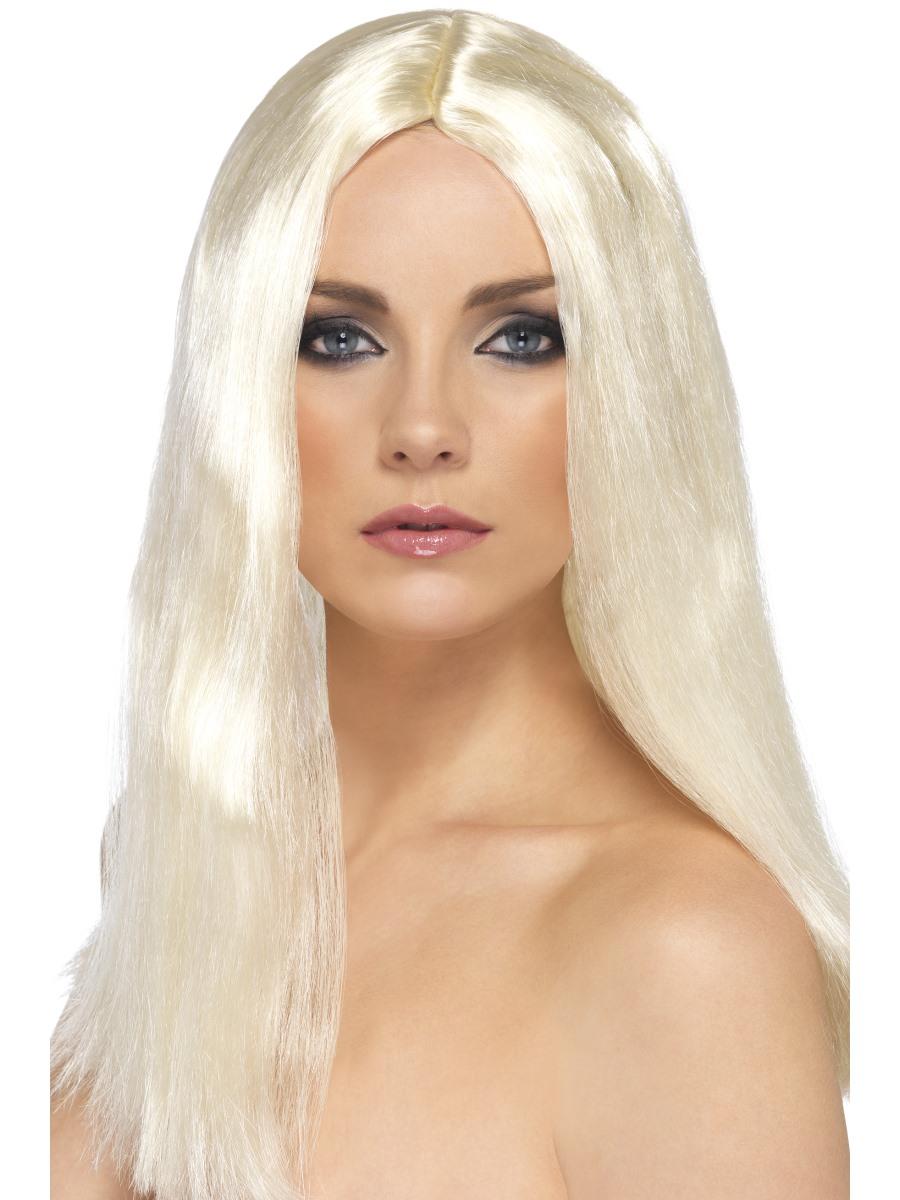 Dlouhá blond paruka na karneval