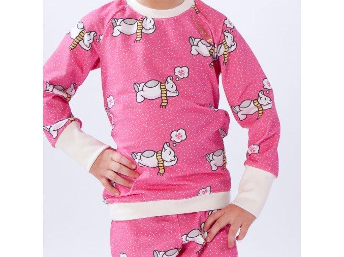 Pyžamko medvídkův zimní sen