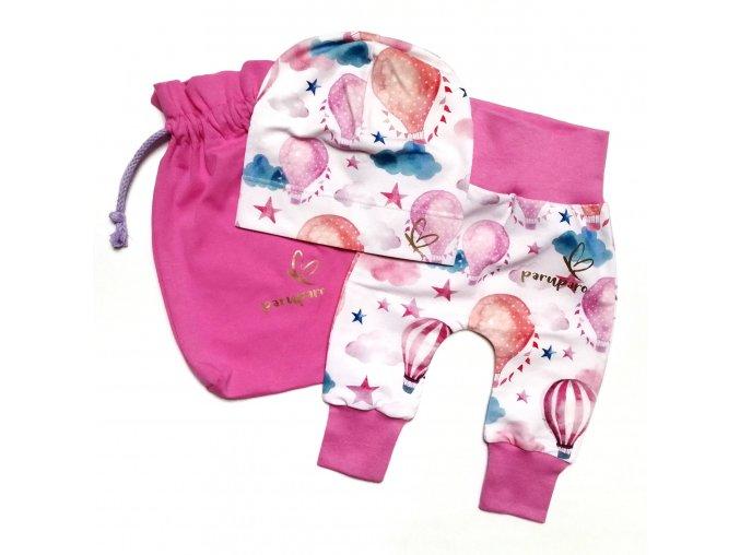Set pro miminko s růžovými balony