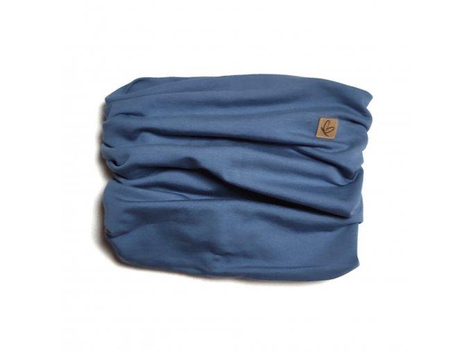 Nákrčník jeans modrý