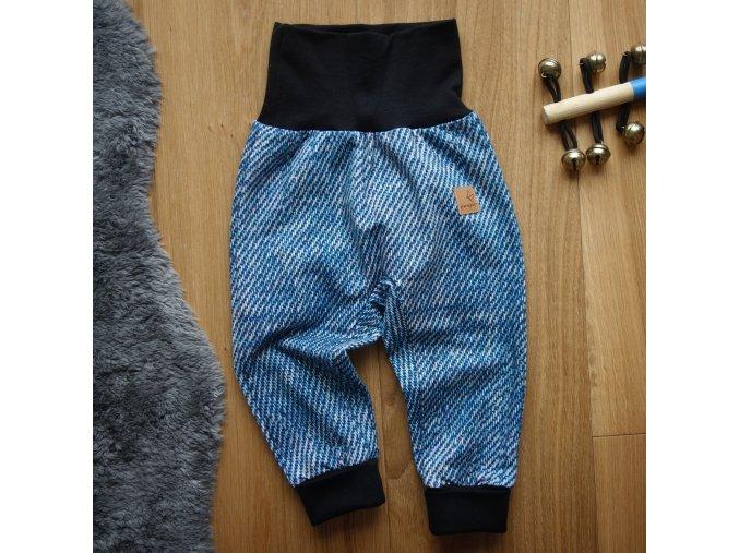 Zateplené baby tepláčky jeans