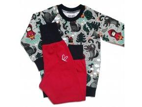 Pyžamko s vlkem a Červenou karkulkou