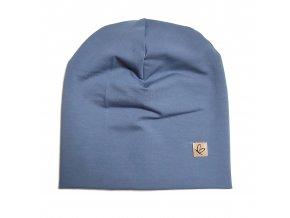 Čepice jeans modrá