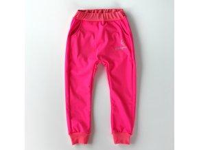 Softshellky zimní neon růžové