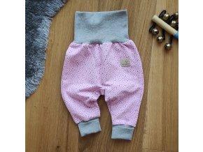 Baby tepláčky růžovo-šedé