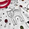 Pyžamko dlouhé s autorským motivem kočiček