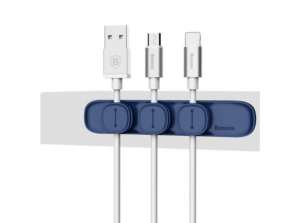 Baseus Peas magnetický organizér kabelů - modrý