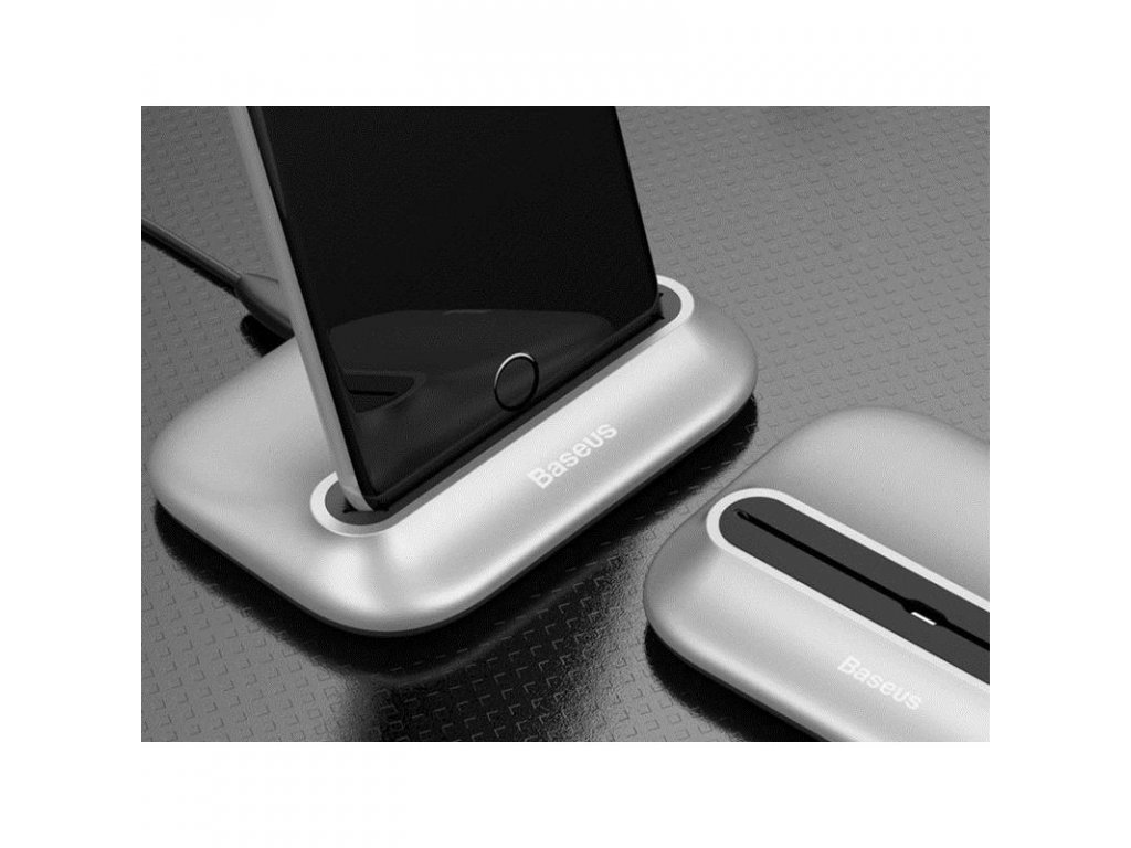 docking station baseus zcvl 0s iphone ipad lightning silver color