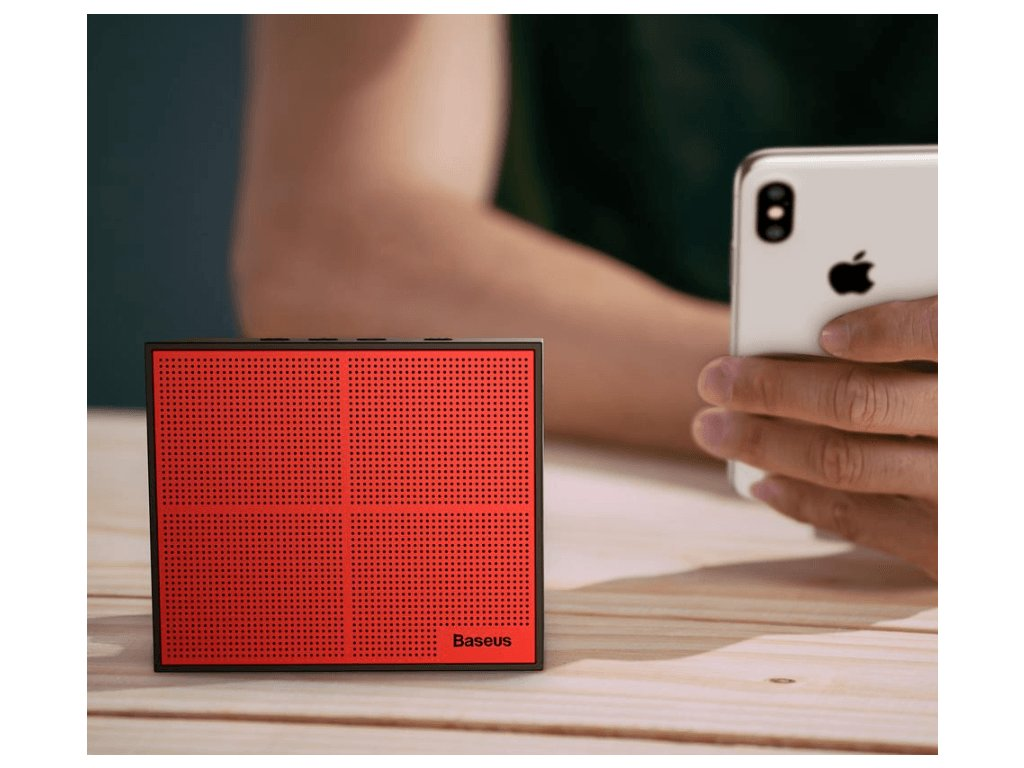 Baseus Encok Music Cube E05 Bluetooth Speaker 3W with Call Function Red Black 9