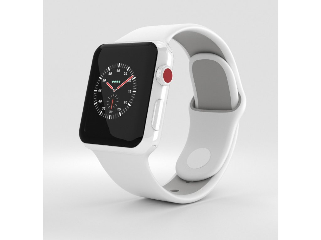Apple Watch Edition Series 3 38mm GPS LTE White Ceramic Case with Soft White Pebble Sport Band 1000 0001