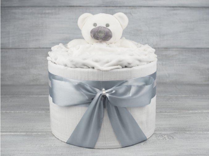 Plenkovy dort jednopatrovy mini sedobily neutralni medvidek 1