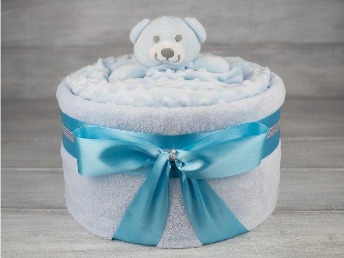 Plenkovy dort jednopatrovy s dekou pro chlapecka