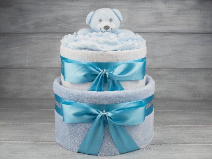 Plenkovy dort dvoupatrovy pro chlapecka medvidek6
