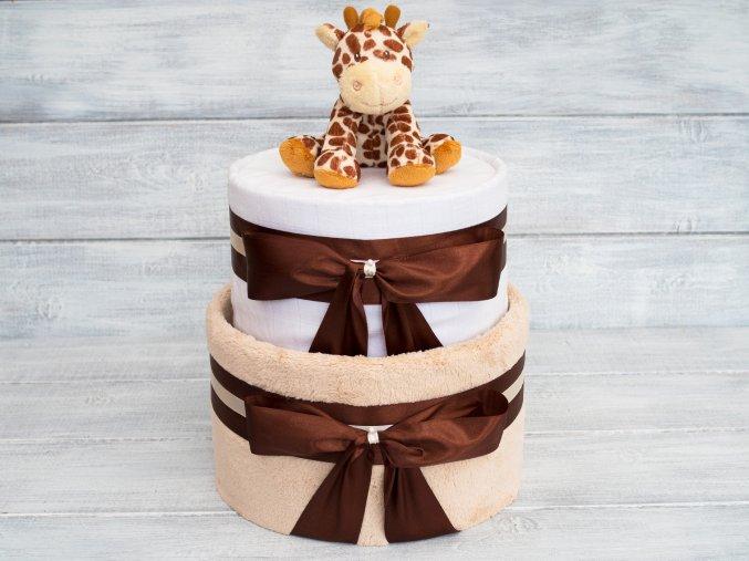 Plenkovy dort dvoupatrovy bezovy zirafa 1