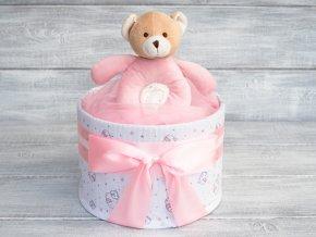 Plenkovy dort jednopatrovy pro holcicku ruzovy letni deka 1