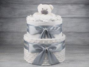 Plenkovy dort dvoupatrovy bilosedy