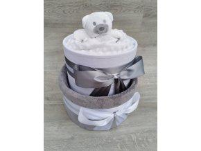 Plenkový dort dvoupatrový neutrální
