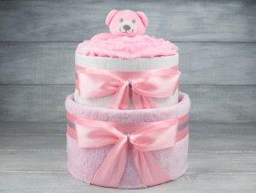 Plenkovy dort dvoupatrovy pro holcicku medvidek4