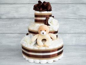 Tripatrovy plenkovy dort cokoladovy hracka2