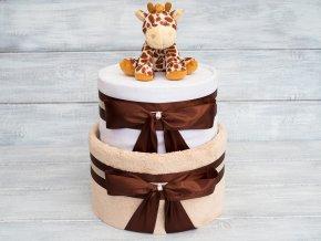 Plenkovy dort dvoupatrovy bezovy medvidek