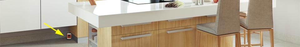 Plašič myší Deramax umístěný v kuchyni