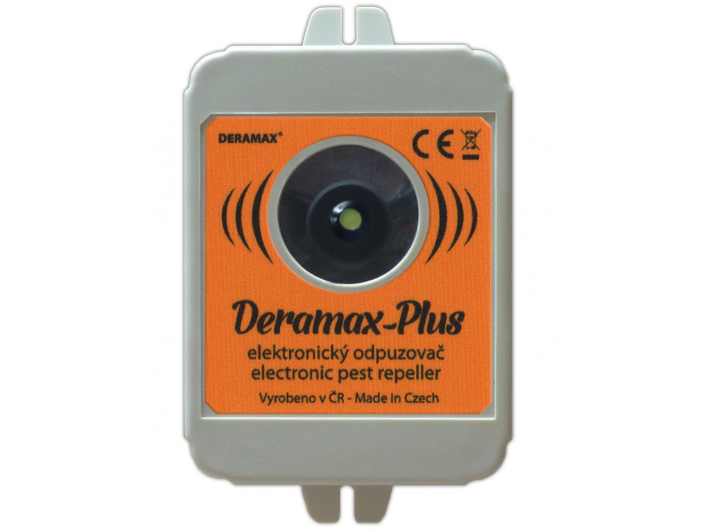 Deramax Plus - ultrazvukový plašič kun a hlodavců na 250m²