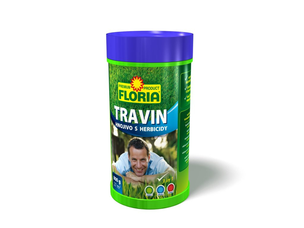 Travin: trávníkové hnojivo s herbicidy a zeolitem