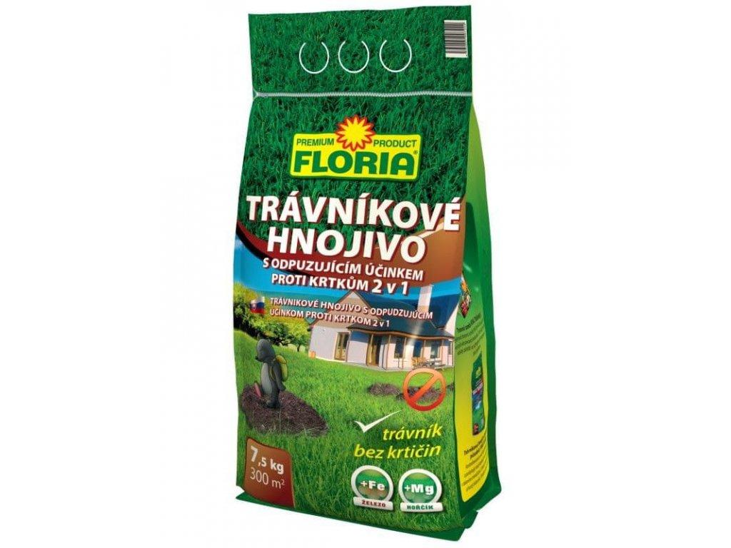 Hnojivo na trávník proti krtkům