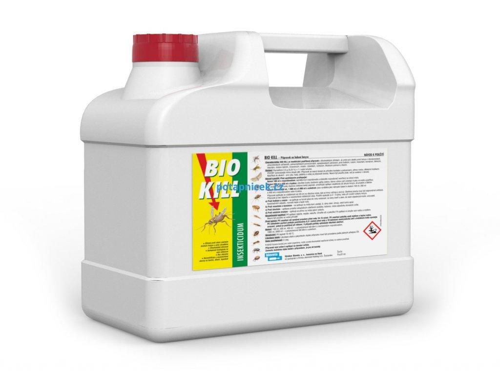 5 litrů náhradní náplň postřiku proti štěnicím a blechám Bio Kill