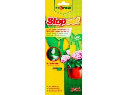 Stopset žluté lepové šipky k odchytu hmyzu 5ks