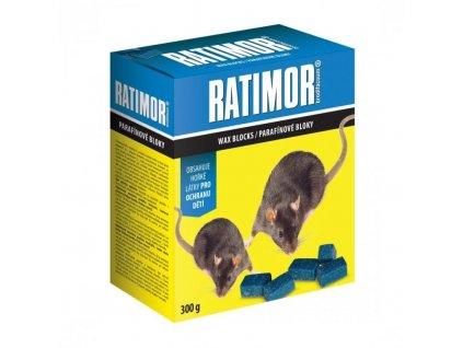Ratimor Parafínové bloky 300g - voděodolný jed na hlodavce