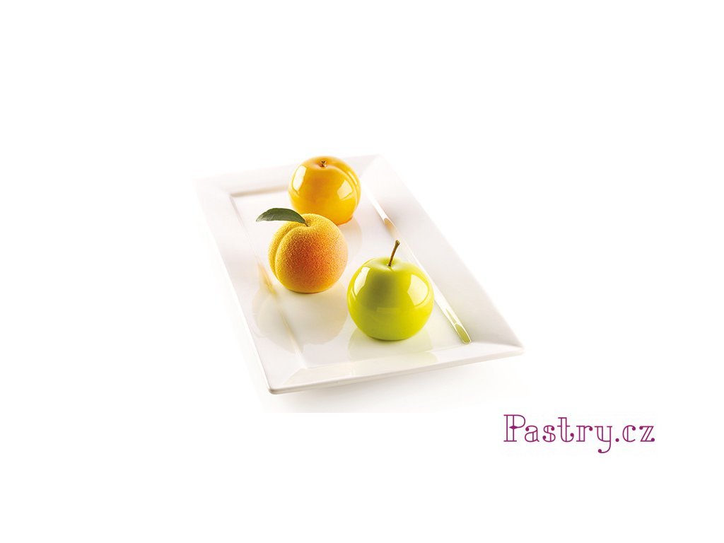 SILIKONOVÁ FORMA BÍLÁ FRUIT 118ml (jablko, meruňka, broskev)