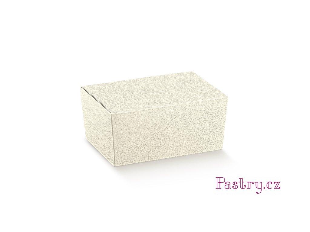 KRABIČKA NA PRALINKY - bílá kůže 15,5x10x7cm