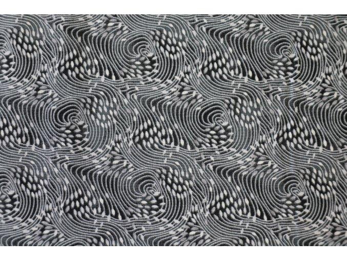 Látka Filippa´s line černá vlny
