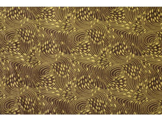 Látka Filippa´s line khaki vlny